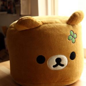 ที่นั่ง เก้าอี้เม็ดโฟม Bean Bag หน้าหมี ริลัคคุมะ Rilakkuma น่ารักมากๆจ้า (น้ำหนัก100+กก. นั่งได้ค่ะ ทดลองแล้ว^^)