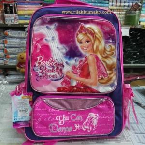 กระเป๋านักเรียน บาร์บี้ Barbie Pink Shoes ขนาด 12x16นิ้ว