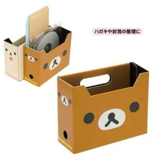 กล่องจัดระเบียบ ขนาดเล็ก 13× 15.8× 6.2cm มี2ลาย: ลายRilakkuma หมีน้ำตาล และ Korilakkuma หมีสีครีม