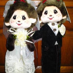 [Sale]กระเป๋าดินสอ Monchichi เซ็ตคู่แต่งงาน (290บาท ได้ทั้ง2ตัว)