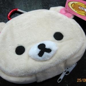กระเป๋าใส่กุญแจ ลาย Korilakkuma โคริลัคคุมะ หมีสีครีม