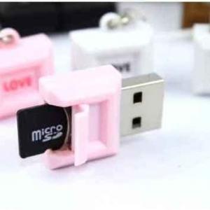 Micro SD Adapter ขนาดพกพา ลาย Love น่ารักมากๆ (ซื้อ 6 ชิ้น เหลือชิ้นละ 65 บาท)