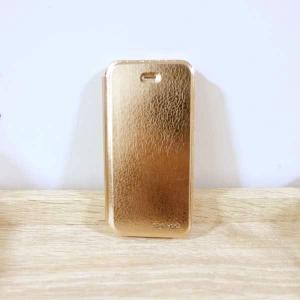 เคสไอโฟน5/5s ฝาพับประกบเพชร สีทองชมพู