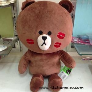 ตุ๊กตาไลน์ หมีบราวน์ จัมโบ้ 80cm มีรอยจุ๊บ
