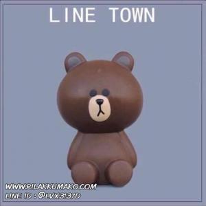 กระปุกออมสิน ตุ๊กตาไลน์ 1 เซ็ต มี 3 ชิ้น หมีบราวน์ โคนี่ แซลลี่