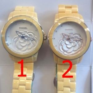 นาฬิกาข้อมือ Chanel J12 Flower Limited Edition 2013 เหลือง