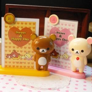 """กรอบรูป รูปขนาด 5x7"""" มี2ลาย: Rilakkuma ริลัคคุมะ หมีน้ำตาล และ Korilakkuma โคริลัคคุมะ หมีสีครีม"""