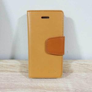 เคสไอโฟน 5/5S ฝาพับ สีน้ำตาลอ่อน