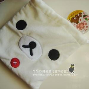 ถุงผ้าหูรูด ลายหมี Korilakkuma โคะริลัคคุมะ ขนาด 8x7นิ้ว
