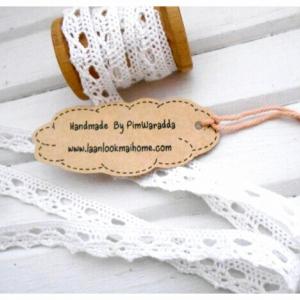 JULY56.Lace3 : ลูกไม้สีขาว กว้าง 0.9 cm