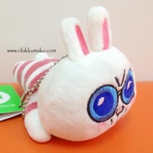 พวงกุญแจ ตุ๊กตาไลน์ กระต่าย นอนคว่ำ