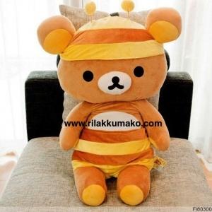 ตุ๊กตาหมี ริลัคคุมะ Rilakkuma ชุดผึ้ง ขนาด จัมโบ้ 95cm ส่งEMS ฟรี