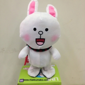ตุ๊กตาไลน์ กระต่ายโคนี่ พูดตามเสียง+เดินได้ สวมผ้าพันคอ