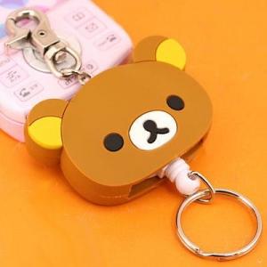 พวงกุญแจสายยืด San-X Rilakkuma Coil Reel Key Holder มี2สี: สีน้ำตาล และ สีครีม