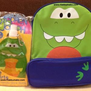[ลายจระเข้] กระเป๋าเป้เด็ก พร้อม ขวดน้ำ นำเข้าจากอเมริกา Stephen Joseph