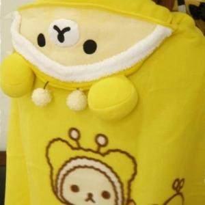 ผ้าคลุมไหล่ San-X Korilakkuma โคะริลัคคุมะ ชุดผึ้ง ขนาด 90x70cm