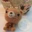 ตุ๊กตาหมีถักขนาด 5.5 cm. - BallBear (red brown) thumbnail 1