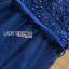 ค็อกเทลเดรสผ้าทูลเลสีน้ำเงินปักลายดอกไม้ thumbnail 8