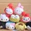 พร้อมส่งค่ะ Sanrio Tsum Tsum plush keychain รุ่นเช็ดจอมือถือได้ thumbnail 1