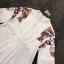 เดรสแขน 4 ส่วน สีขาวปักตกแต่งดอกไม้ช่วงใหล่ thumbnail 8