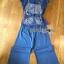 เซ็ตเสื้อผ้าลูกไม้ตกแต่งริบบิ้พร้อมกางเกงขายาวสีน้ำเงินยีนส์ thumbnail 7