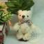 ตุ๊กตาหมีผ้าขนสีครีมขนาด 6.5 cm. - BeanBear thumbnail 2