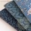 เซตผ้าฝ้ายโทนสีน้ำเงิน (1/8 m.) 3 ชิ้น thumbnail 3