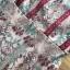 ชุดเดรสสั้นผ้าลูกไม้ปักลายดอกไม้โทนสีเขียว-แดง thumbnail 7