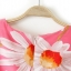 [Preorder] เดรสแฟชั่นแขนกุด ลายดอกไม้บานพร้อมเข็มขัด สีชมพู (ไซส์ S M L) 2014 summer new European style sunflower sunflowers print short-sleeved dress organza skirt thumbnail 12