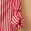 Chu ViVi เสื้อผ้าแฟชั่นเกาหลี แขนยาวคอปกลายริ้วสีแดง-ขาว thumbnail 7