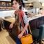 Maomaobag กระเป๋าสะพายแฟชั่นสีเหลือง ทรงเก๋ มินิไซส์ thumbnail 2