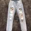 กางเกงยีนส์สีซีด ทรงเดฟสกรีนลายมิคกี้เม้า thumbnail 5