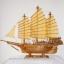 สำเภาจีนมหาลาภไม้สักใบเฉียงกว้าง 36 cm. thumbnail 1