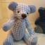 ตุ๊กตาหมีผ้าฝ้ายสีฟ้าขนาด 20 cm. - Friday thumbnail 2