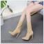 Pre รองเท้าบู้ท คัทชู ส้นสูง แฟชั่น ราคาถูก มีไซด์ 35-40