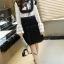 เดรสแขนยาวโทนขาวดำ ช่วงตัวเสื้อเป็นผ้าลูกไม้ thumbnail 4