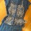 เซ็ตเสื้อผ้าลูกไม้ตกแต่งริบบิ้พร้อมกางเกงขายาวสีน้ำเงินยีนส์ thumbnail 8