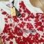 Set เซ็ตเสื้อและกางเกงขายาวขายาวมีปกพิมพ์ลายดอกไม้สีแดง thumbnail 6
