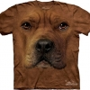 The Mountain Big Face Pitbull Dog T-Shirts