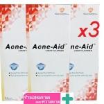 สบู่เหลว Acne-Aid liquid cleanser ขนาด 100 ml แพค 3 ขวด ตกชิ้นละ 166 บาท acneaid