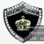Logo D.A.D Garson โล่ห์เงินมงกุฏทอง 3D (โลหะอลูมิเนียม)