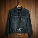 Pre order  เสื้อยีนส์ (retro men's jeans men's outdoor jackets)