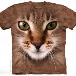 เสื้อยืด3Dสุดแนว(STRIPED CAT FACE T-SHIRT)