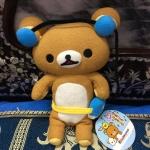 ตุ๊กตาหมี ริลัคคุมะ ใส่หูฟัง san-x ขนาด 8 นิ้ว
