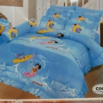 ชุดผ้าปูที่นอน ลาย Stitch สติช 6 ฟุต [5ชิ้น]