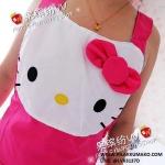 ผ้ากันเปื้อน ลาย Hello Kitty คิตตี้ สีชมพู