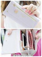 (พร้อมส่ง)กระเป๋าสตางค์เกาหลี สีม่วงใบยาว