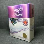 Amado Fiber อมาโด้ ไฟเบอร์ ดีท็อกซ์ลำไส้ กล่องสีม่วง 1 กล่อง มี 5 ซอง