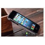 เคส iPhone 5 เพชร - Black Metal (โลหะดำ)