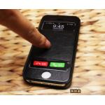 เคส iPhone5 - เคสหนังโชว์เบอร์ - สีดำ